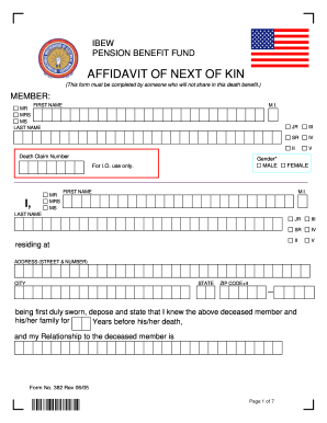 Next of kin form - Fill Out and Sign Printable PDF Template   SignNow
