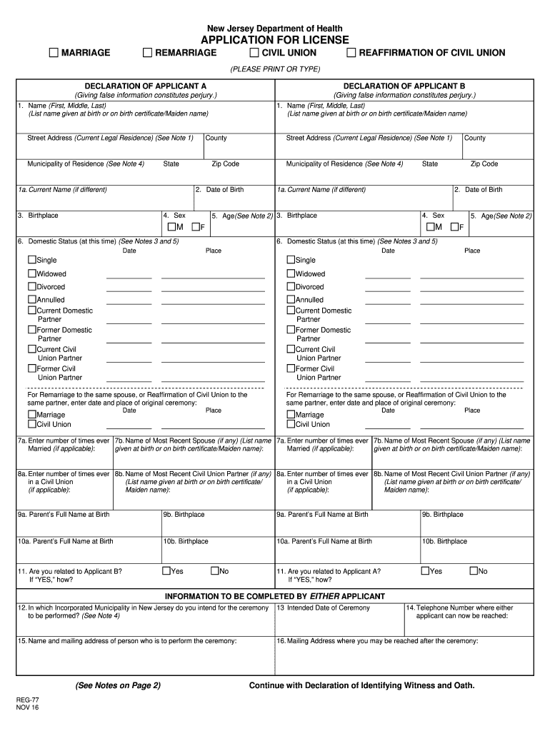 Get And Sign Marriage License Application Form 2013-2021