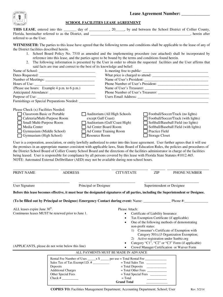 Get And Sign Broward County Public Schools Facilities For Lease 2014-2021 Form