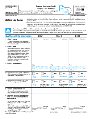 Earned income credit worksheet 2017 2018-2019 form - Fill ...