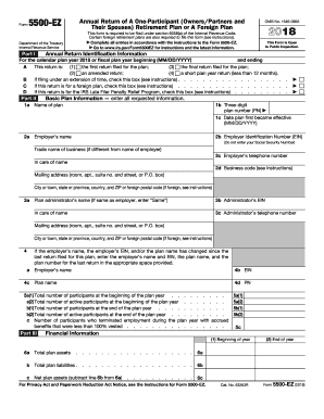 Form 5500 2018-2019 - Fill Out and Sign Printable PDF