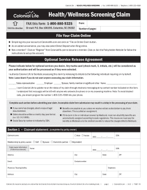 Get And Sign Health Wellness Claim Form 2018-2021