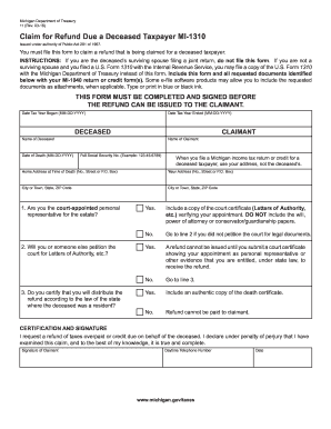 Get And Sign Mi 1310 Instructions 2018-2019 Form - Fill Out