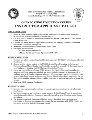 OBEC Instructor Applicant Packet pdf 252Kb - Watercraft