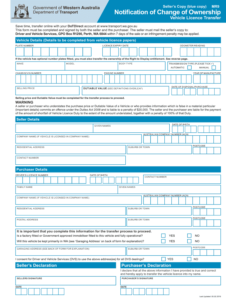 Get And Sign Transfer Papers Wa 2019-2021 Form