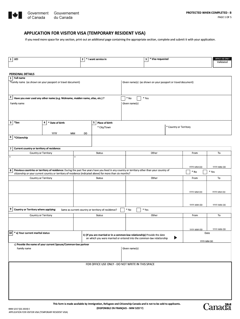 Imm5257 Fill Out And Sign Printable Pdf Template Signnow