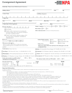 Get And Sign Dmv Vehicle Consignment Form 2019-2021