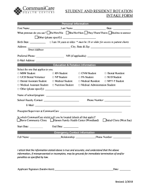 Get And Sign STUDENT AND RESIDENT ROTATION 2018-2021 Form