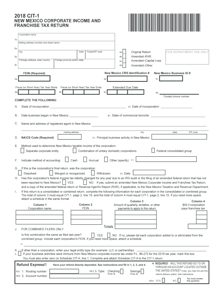 Get And Sign New Mexico Cit 1 Form