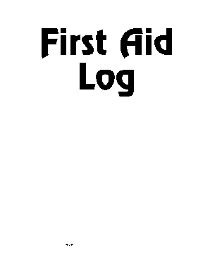 image about Printable First Aid Sign titled Initial Guidance Log - bsaseabase style - Fill Out and Signal
