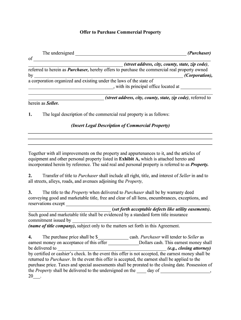 Get And Sign OFFER TO PURCHASE AND CONTRACT OF SALE  Vba va gov Form