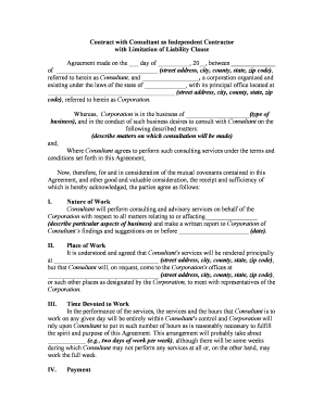 Consulting services agreement template city of union city form