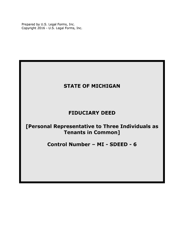 Personal representative to three individuals as form
