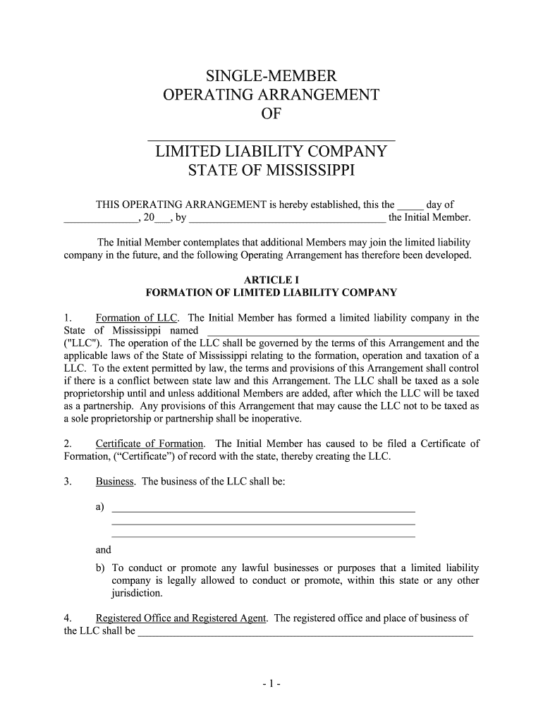 Get And Sign How To Form An LLC In MississippiNolo