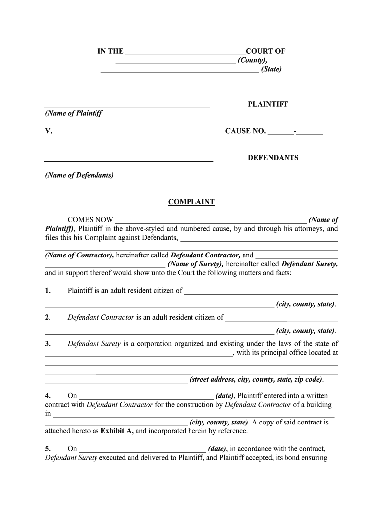 Get And Sign Legal Form  Complaint For Conspiracy  Kinsey Law Offices