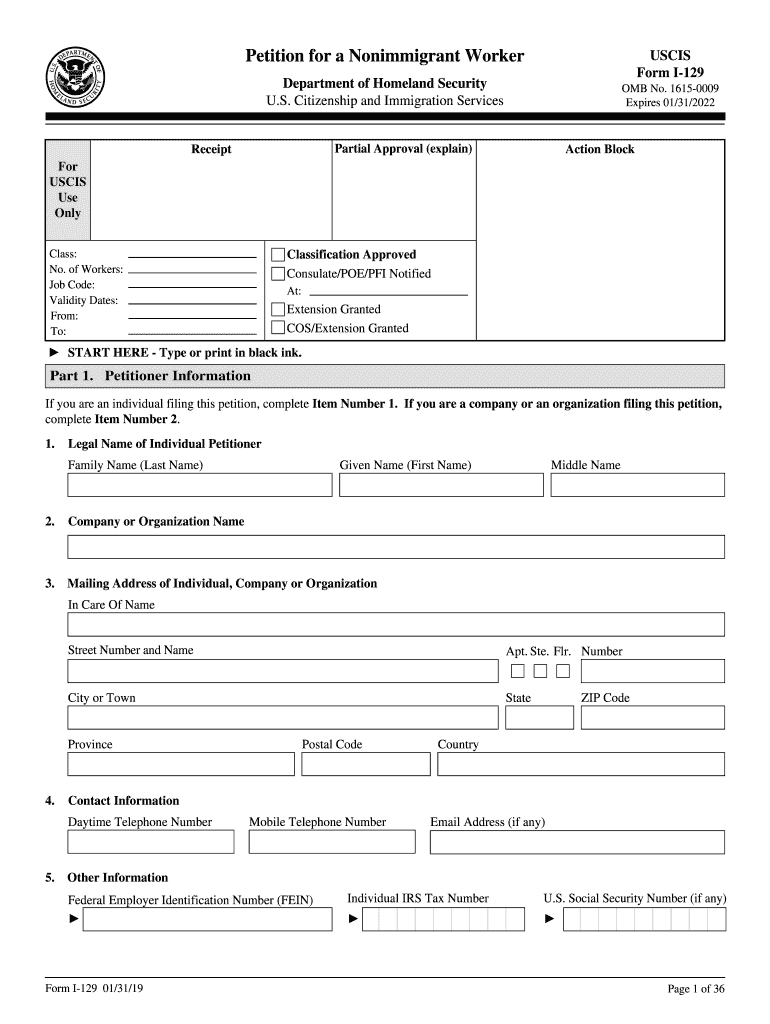 Get And Sign I129 2019-2021 Form