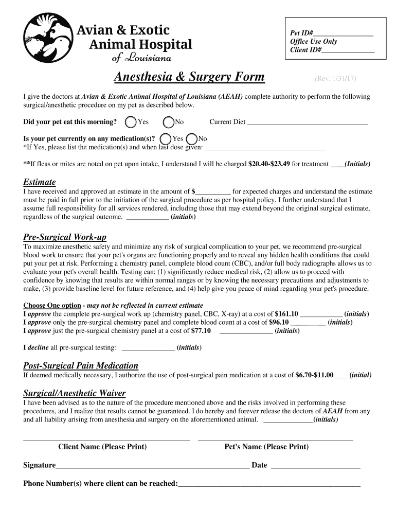 Get And Sign West Esplanade Veterinary Clinic 2017-2021 Form