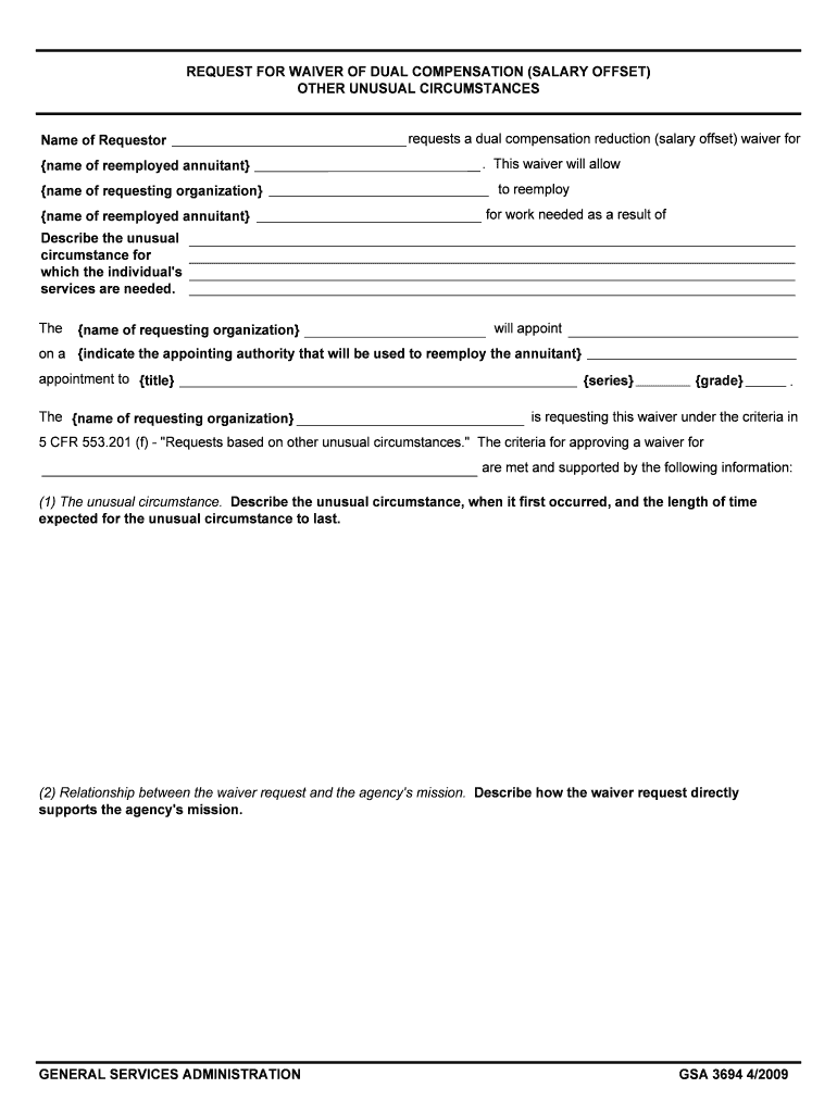 Get And Sign OTHER UNUSUAL CIRCUMSTANCES Name Of Requestor Form