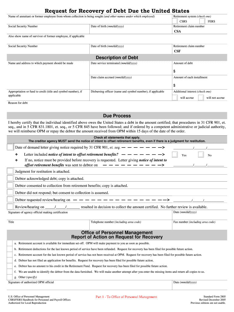 Get And Sign Federal Employees Retirement System general Administration Form