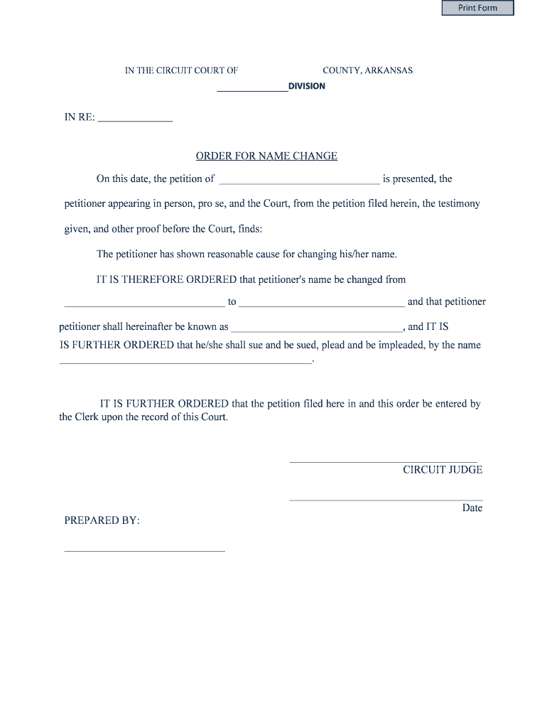 Get And Sign Name Changes Pro Bono Attorney Application Arkansas Form
