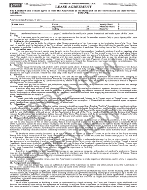Blumberg Lease Agreement T 186 Form Fill Out And Sign