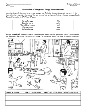 Energy transformation worksheet - Fill Out and Sign ...