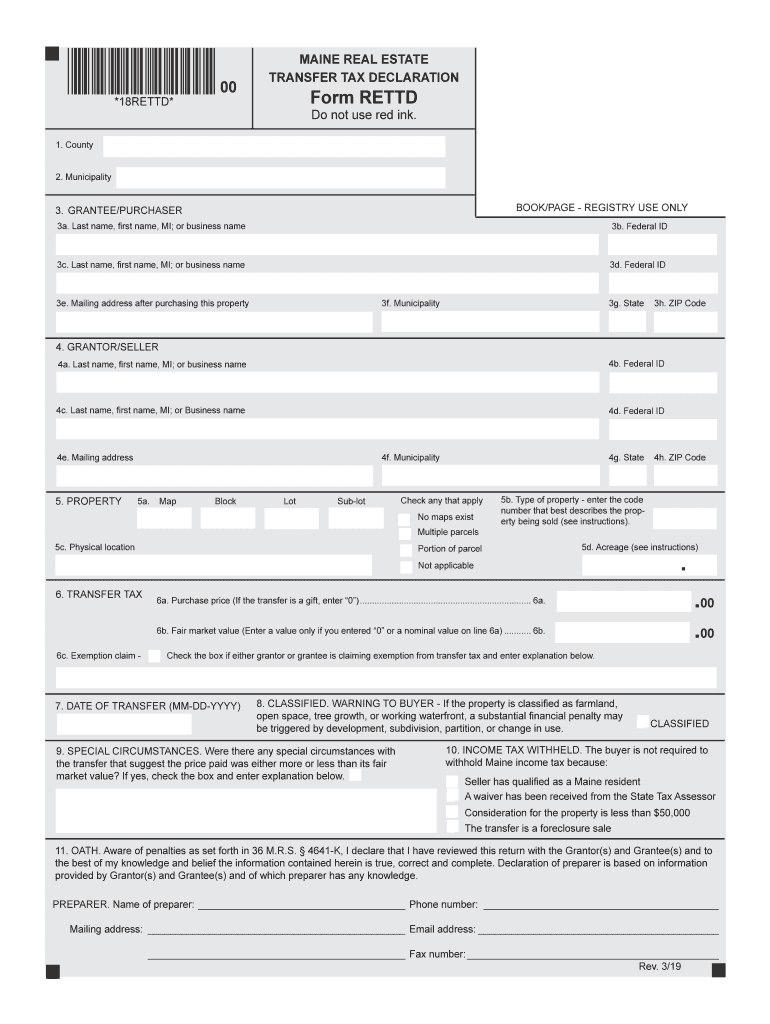 Get And Sign Rettd Maine Form 2019-2021