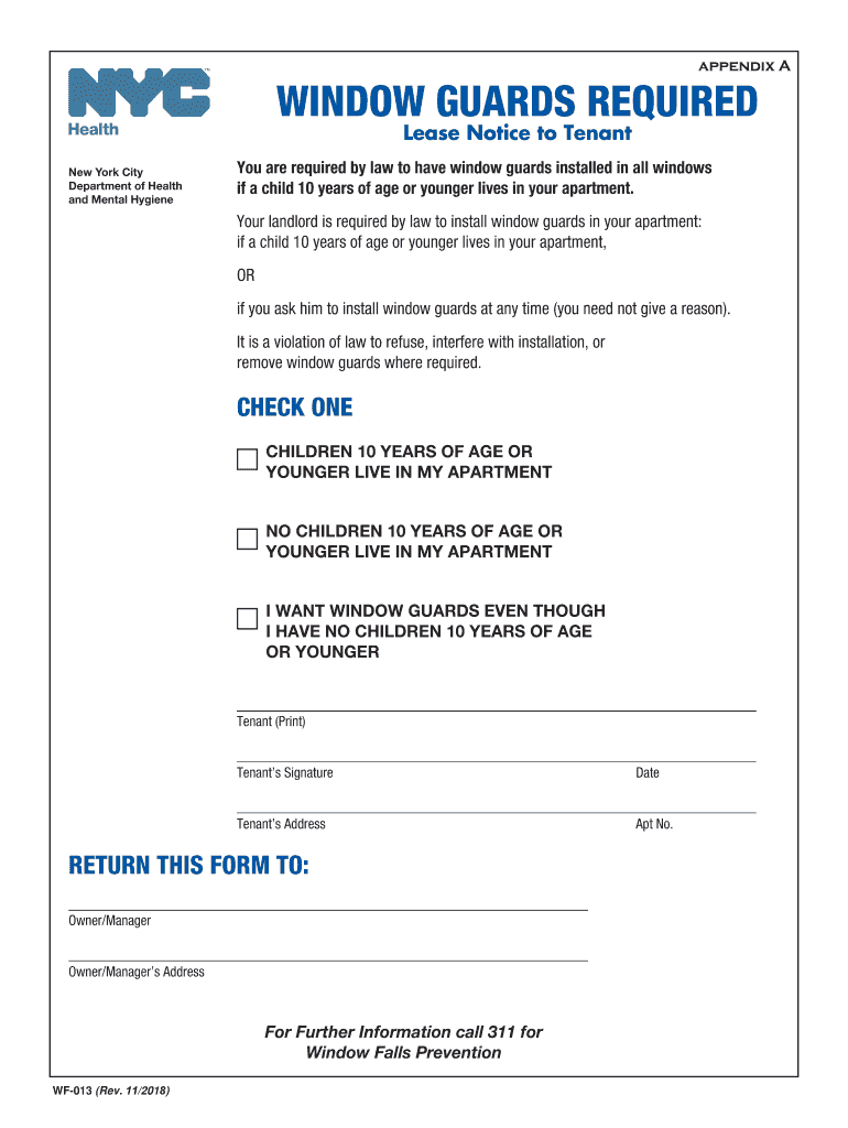 Get And Sign Form Window Guards 2018-2021