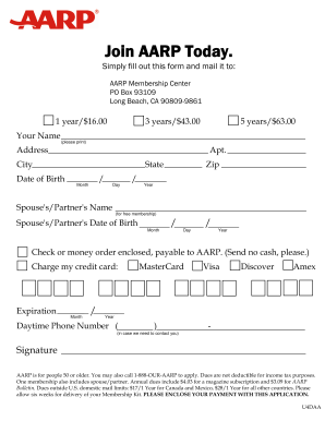 Join Aarp - Fill Out and Sign Printable PDF Template | signNow