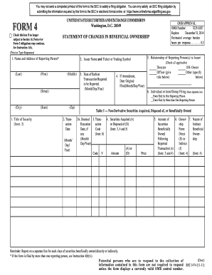 Sec Form 4 >> Form 4 2011 2019 Fill Out And Sign Printable Pdf Template Signnow