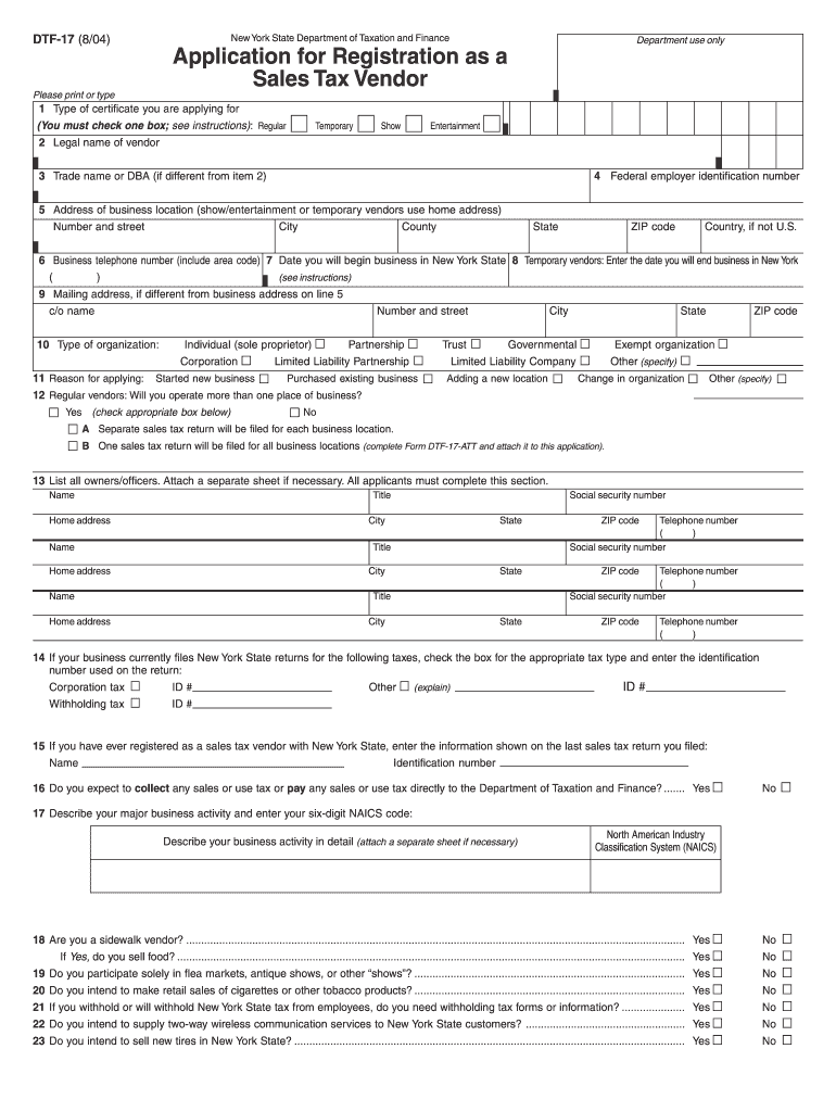 Get And Sign Nys Sales Tax Form Dtf 17 R 2010-2021