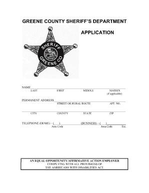 Online greene county indiana sheriff department application