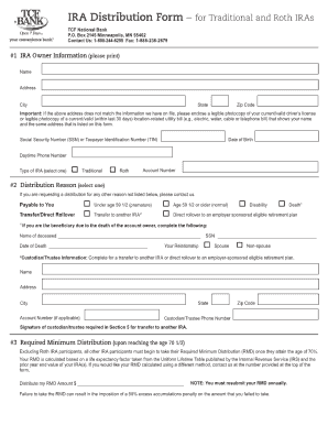 Bank ira distribution form - Fill Out and Sign Printable PDF