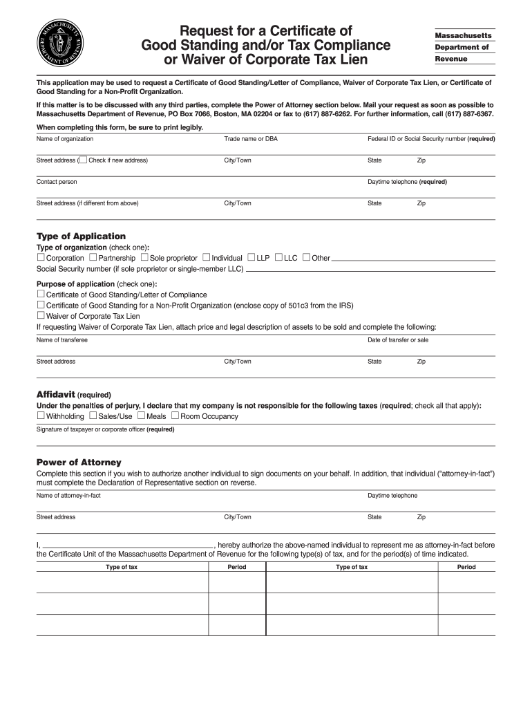 Get And Sign Massachusetts Certificate Tax Form
