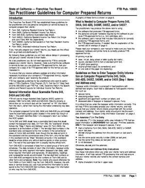 1994 FTB Pub  1095D - California Franchise Tax Board - State