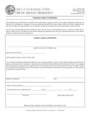 Get And Sign Homeless Status Certification 2014-2021 Form