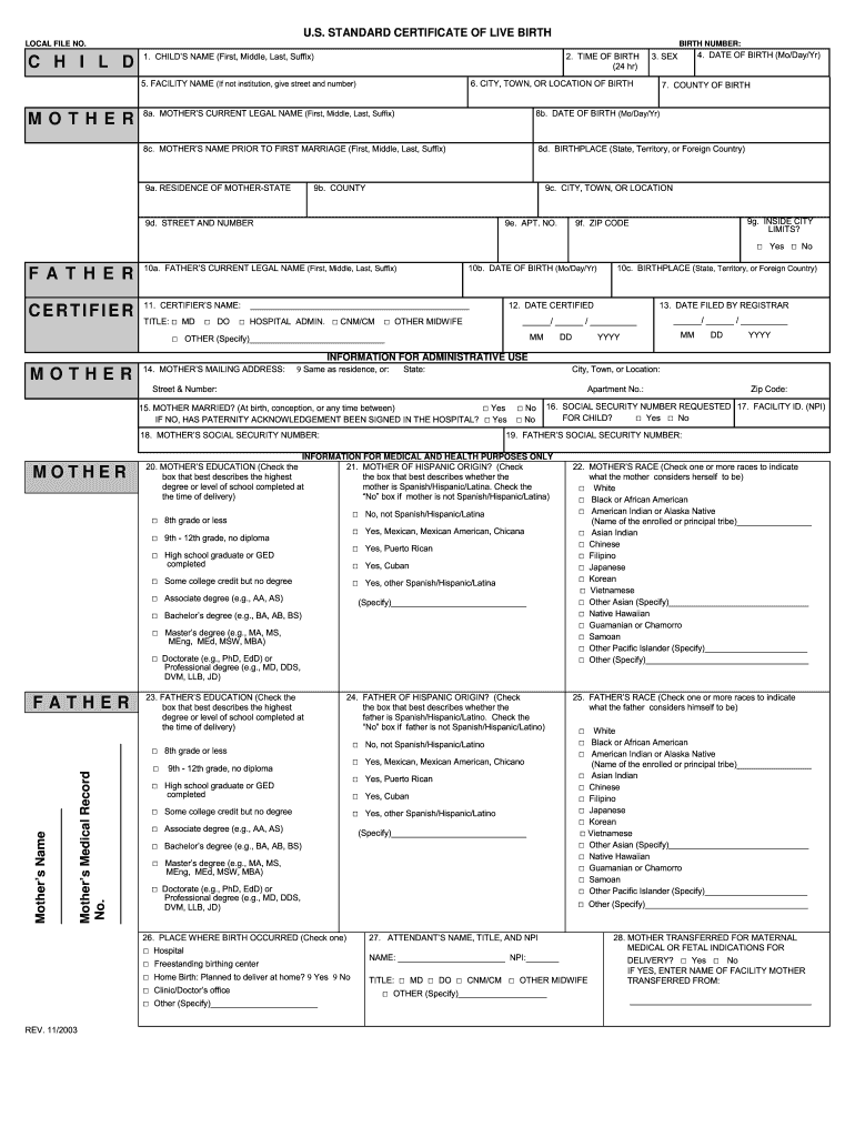 Get And Sign Birth Certificate Maker Form
