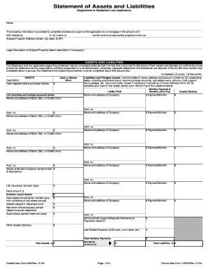 Asett And Liability Form Fill Out And Sign Printable Pdf