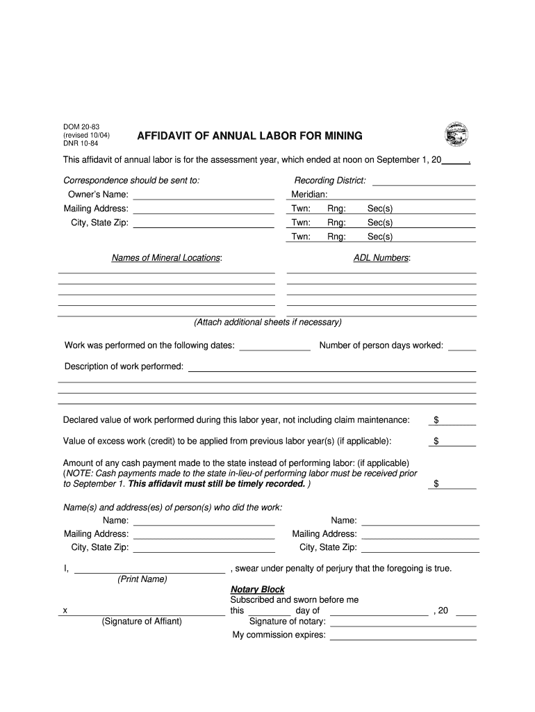 Get And Sign Ak Affidavit 2004-2021 Form