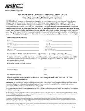 Get And Sign Msufcu Skip A Pay 2010-2021 Form