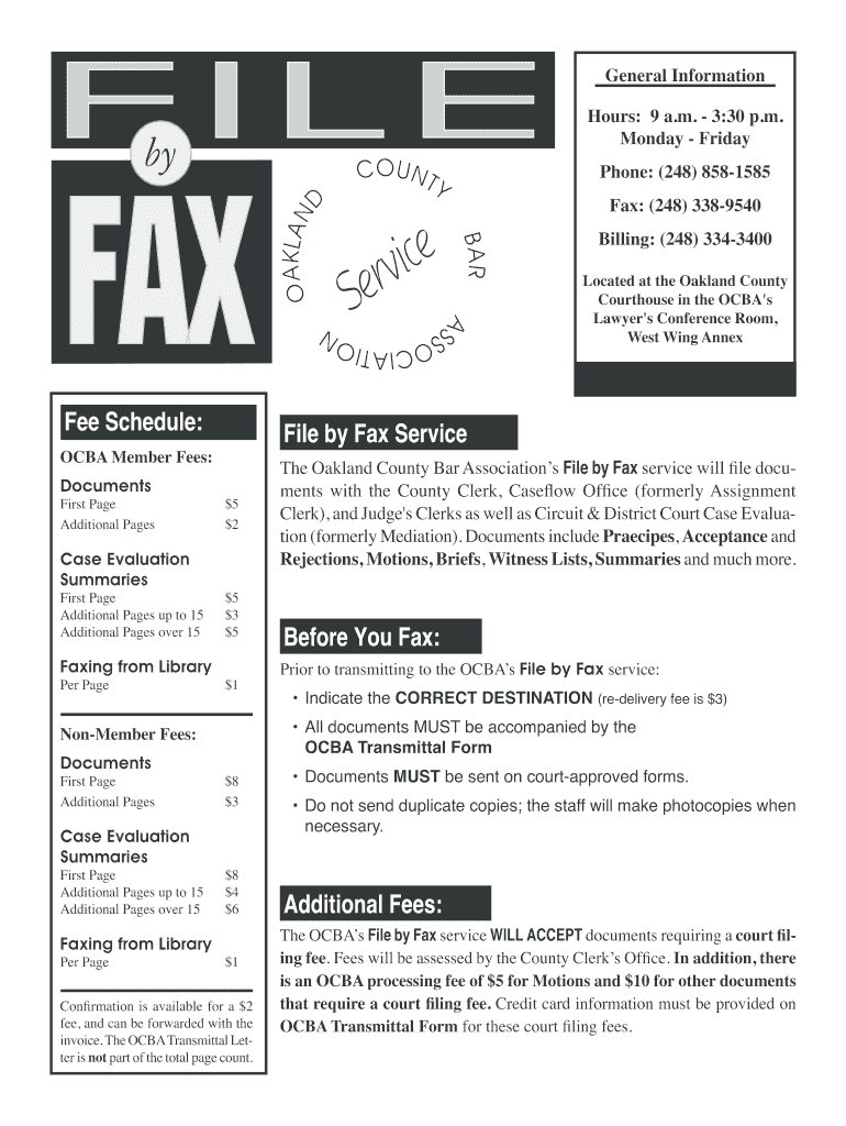 Get And Sign Oakland County Bar Association Fax File Form 2010-2021