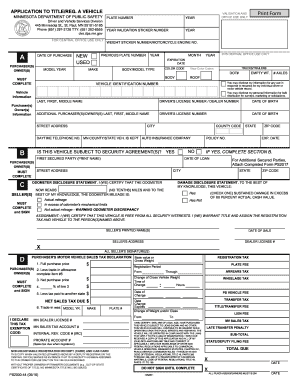 And Template Fill Pdf Out - 2013 Printable Sign Mn Dmv Forms Signnow
