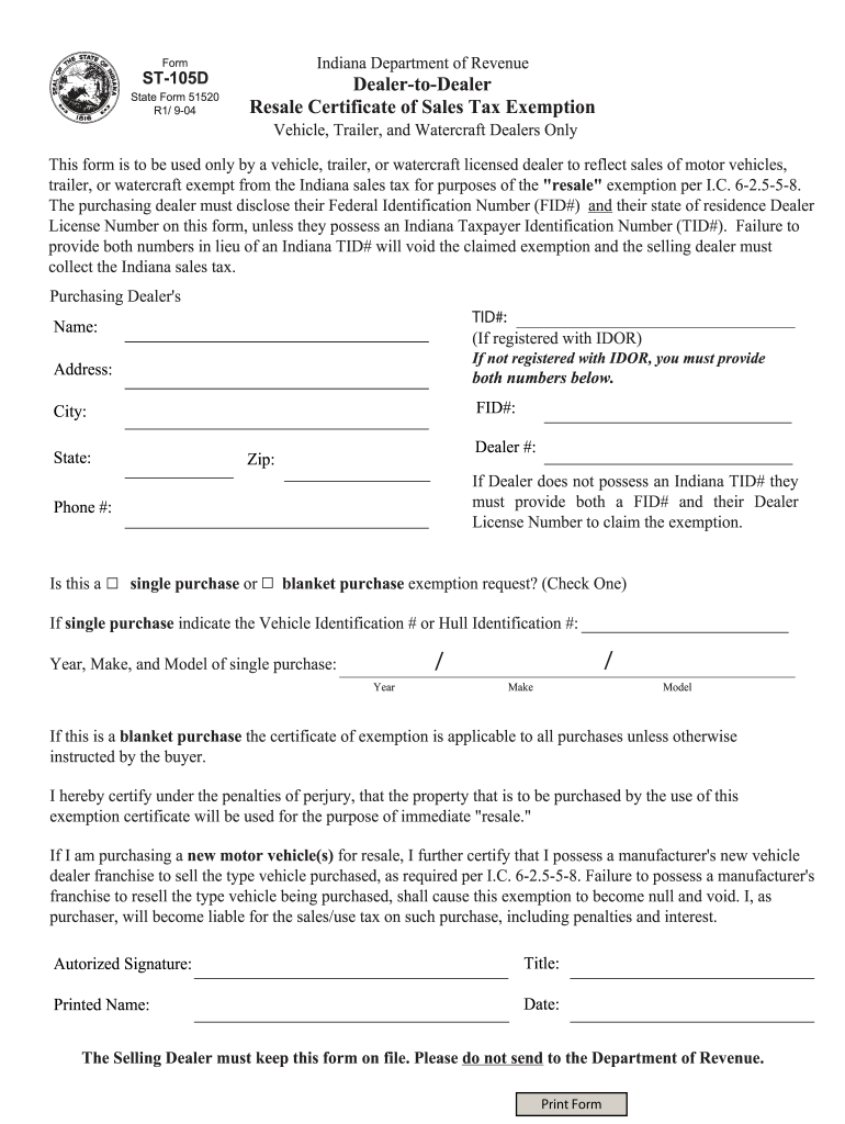 Get And Sign St 105d  Form 2004-2021