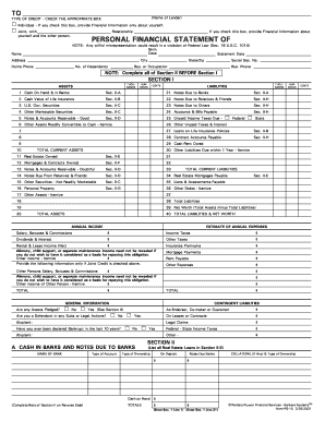 photo about Printable Financial Statement called Individual money assertion ps 15 style - Fill Out and Indication