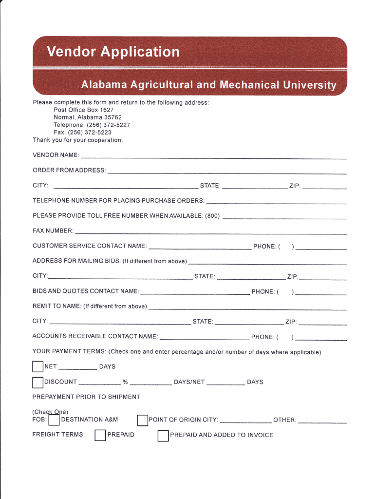 Get And Sign Alabama A M University Application Printable Form