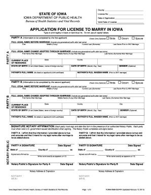 STATE OF IOWA IOWA DEPARTMENT OF PUBLIC HEALTH Bureau of