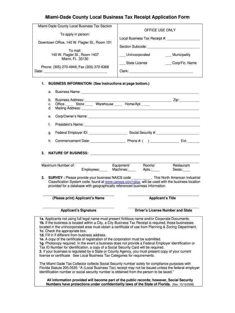 Get And Sign Business Tax Receipt Form 2017-2021