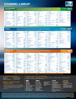 photograph regarding Printable Directv Now Channel Guide known as Printable directv sort - Fill Out and Signal Printable PDF
