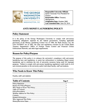 Aml Program Template Form Fill Out And Sign Printable Pdf Template