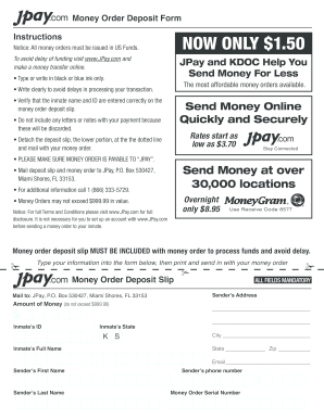 image relating to Printable Money Orders named Obtain jpay kind - Fill Out and Indicator Printable PDF Template